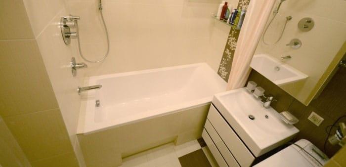 Фотография ремонта ванной комнаты
