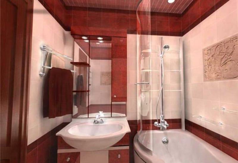 Пример ремонта ванной комнаты 5
