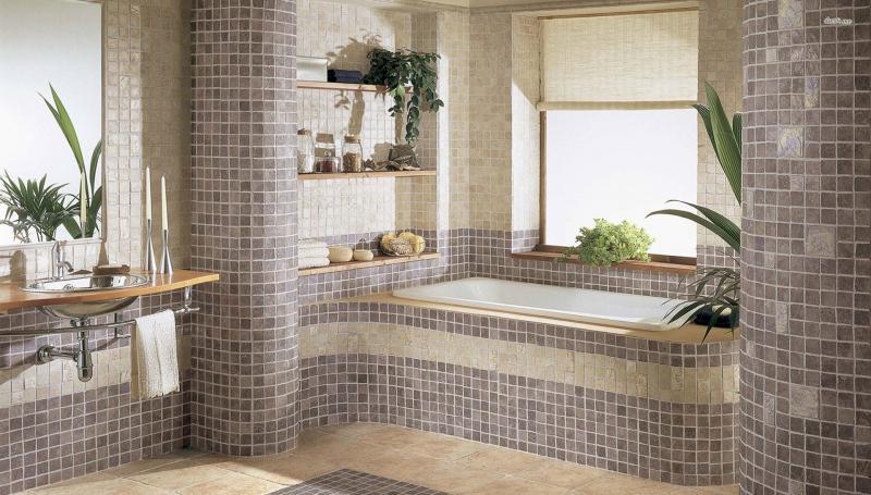 Дизайн ванны квартире плитка 11