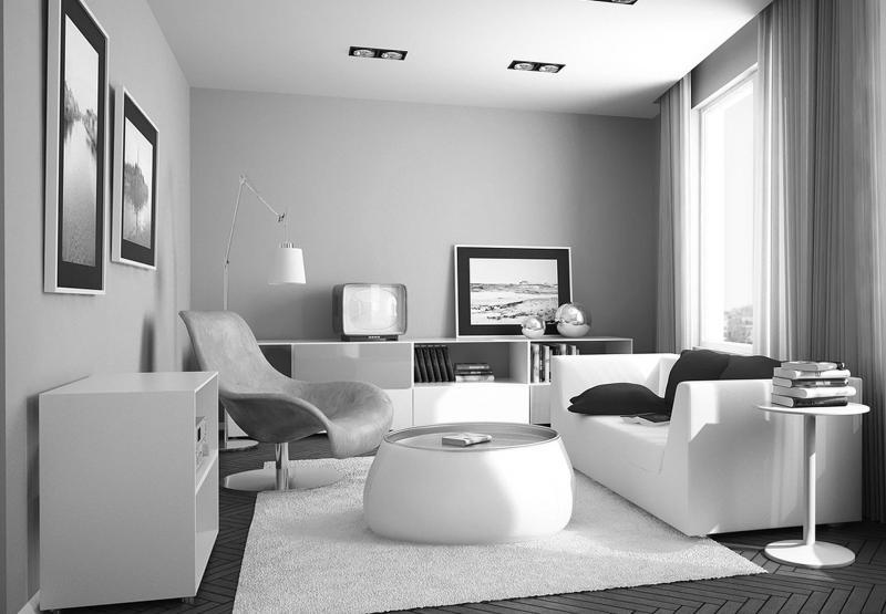 Черно-белый интерьер 3