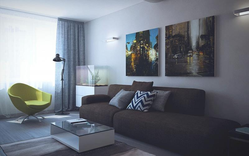 Дизайн гостиной 8