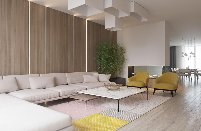 Дизайн интерьера в бежевых тонах 4