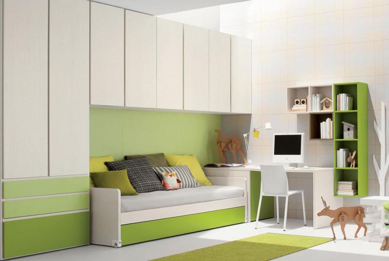 Дизайн интерьера в зеленом цвете - фото 2