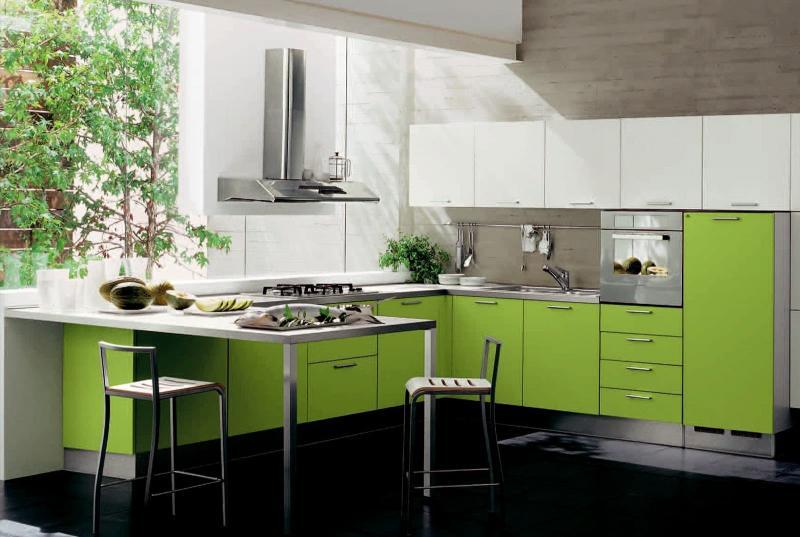 Дизайн интерьера в зеленом цвете - фото 5