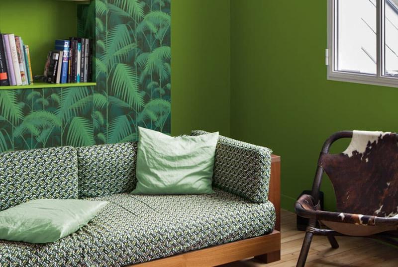 Дизайн интерьера в зеленом цвете - фото 6