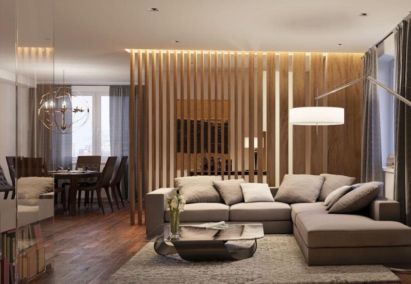 Дизайн кухни-гостиной 7