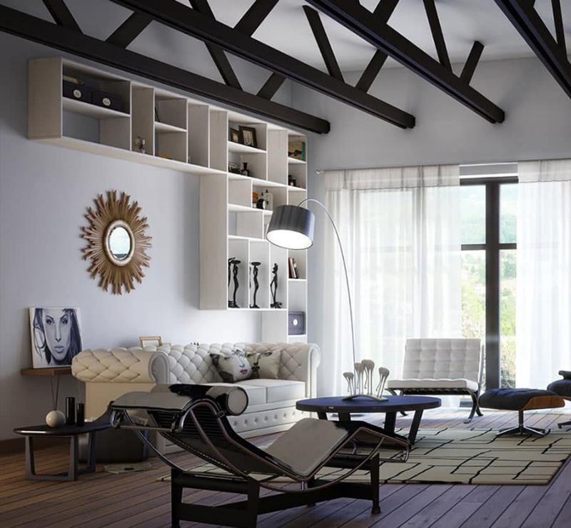 Дизайн потолка 9