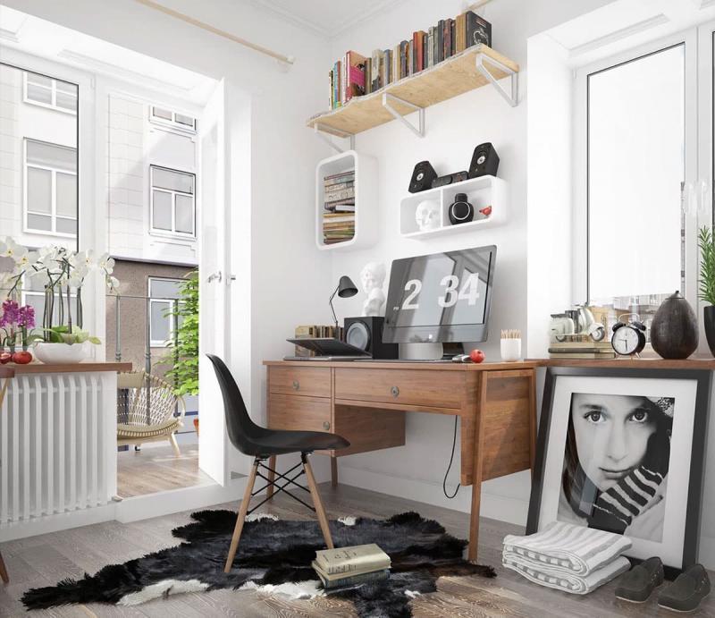Компьютерный стол в интерьере 1
