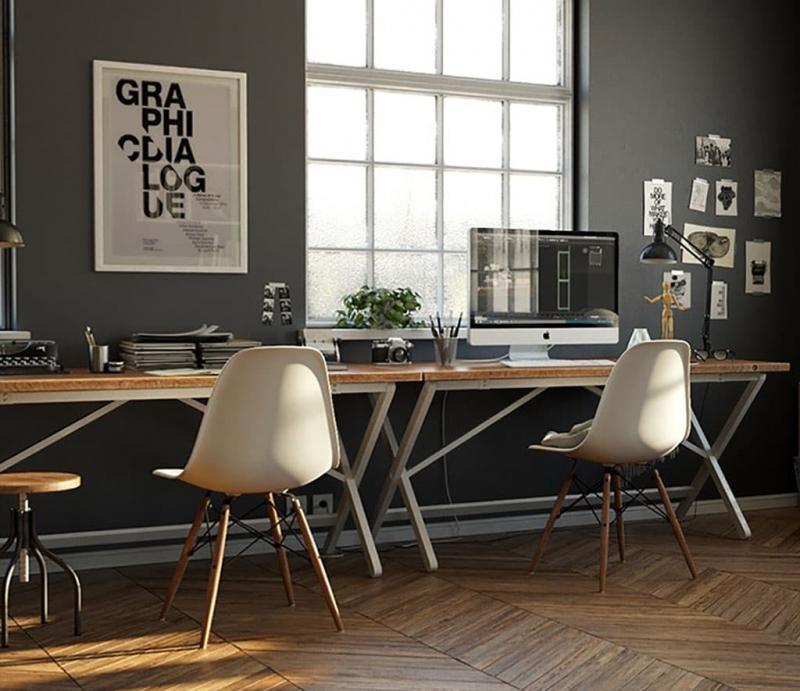 Компьютерный стол в интерьере 5