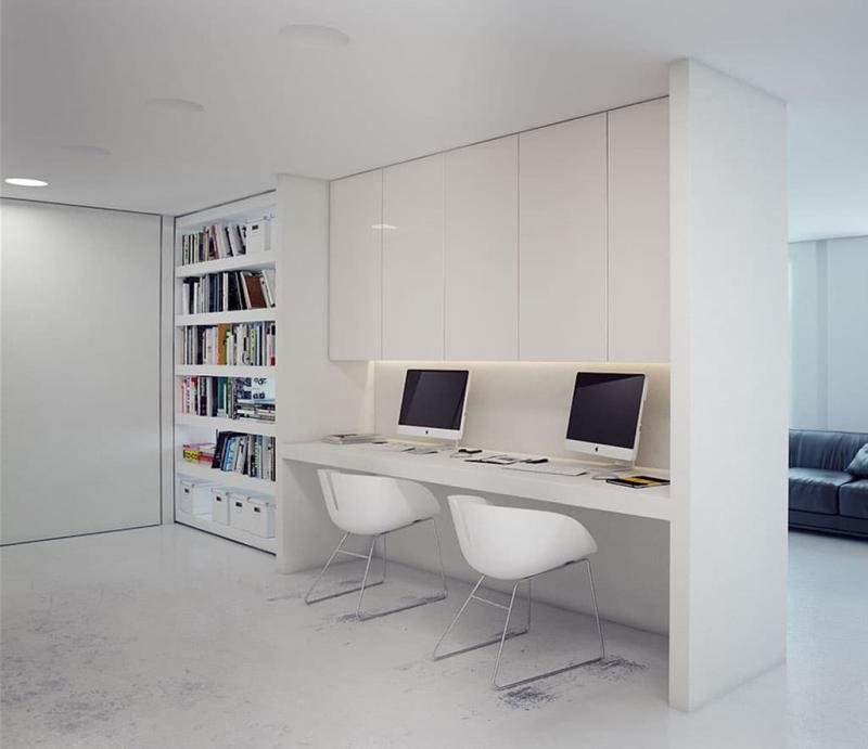 Компьютерный стол в интерьере 7