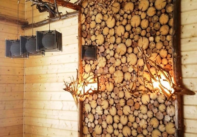 Спил дерева в интерьере 6