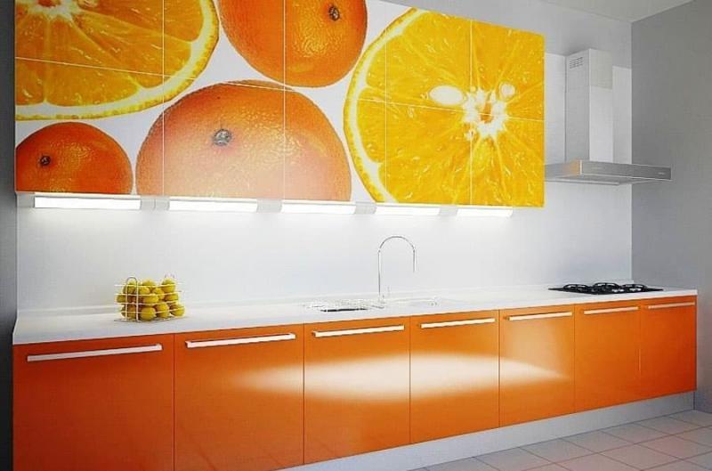 Цветовое решение для кухни 2017 -оранжевый 2
