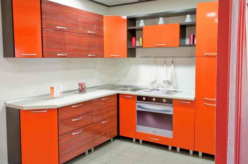 Цветовое решение для кухни 2017 -оранжевый 5