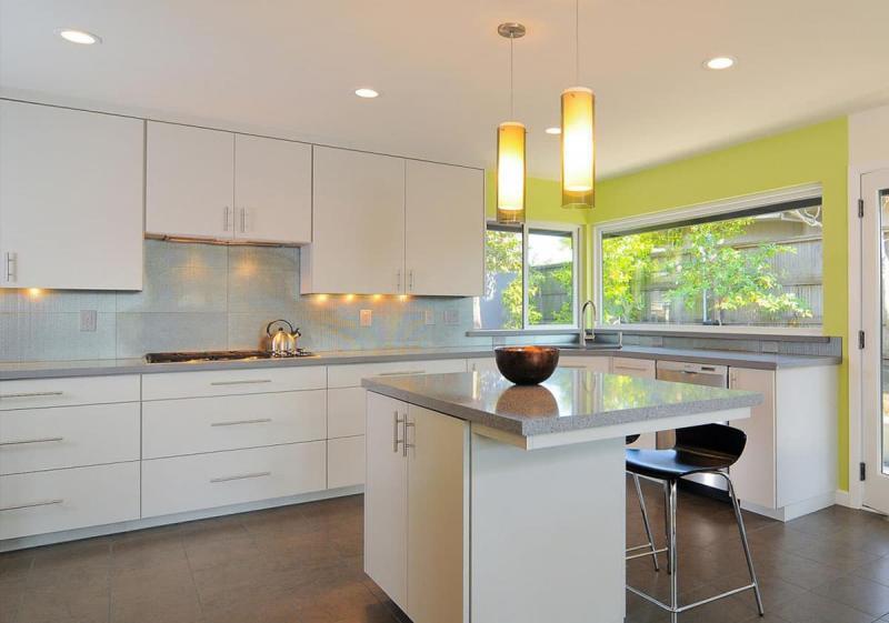 Цветовое решение для кухни в 2017- белый 3
