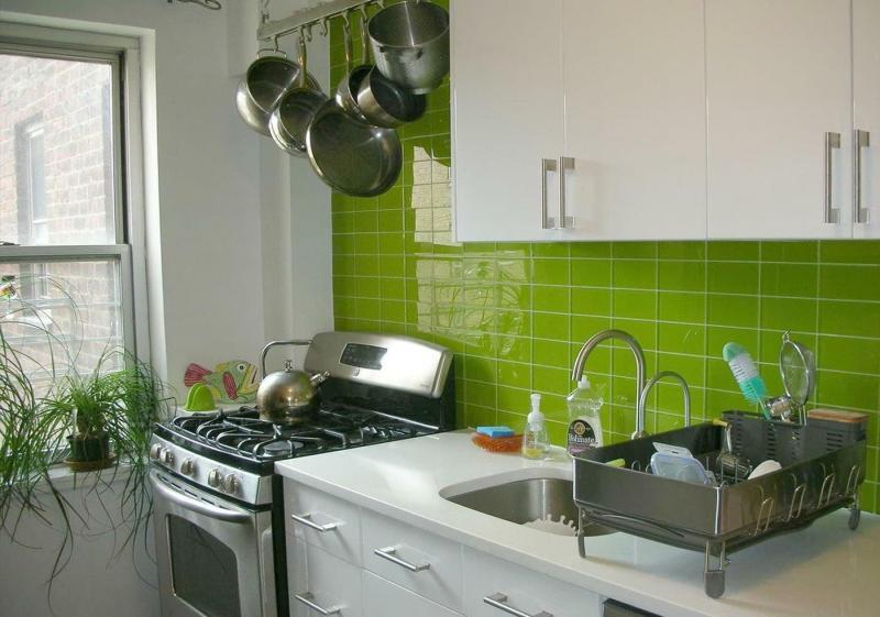 Цветовое решение для кухни в 2017- белый 6