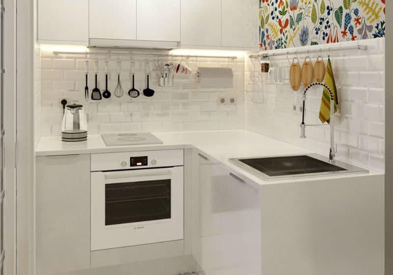 Цветовое решение для кухни в 2017- белый 8