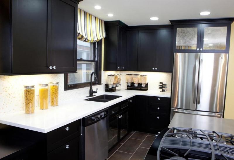 Цветовое решение для кухни в 2017- черный 4