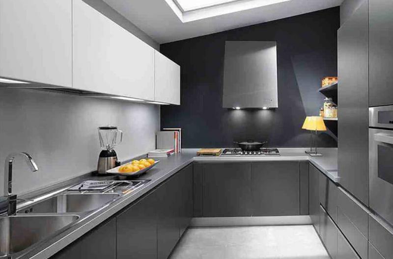 Цветовое решение для серой кухни в 2017 - фото 4