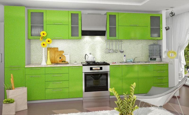 Фото кухни в салатовом цвете 1