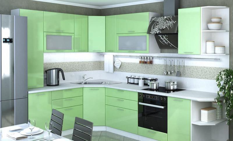 Фото кухни в мятном цвете 1