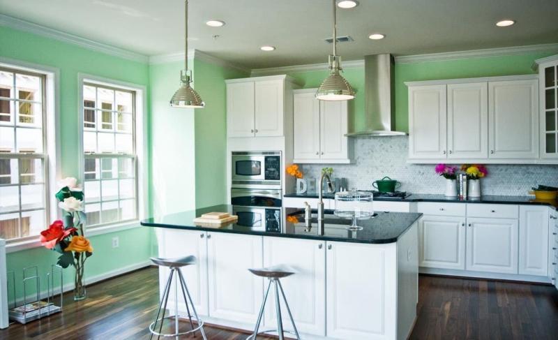 Фото кухни в мятном цвете 2