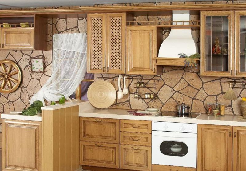 Декоративные панели в интерьере кухни 1