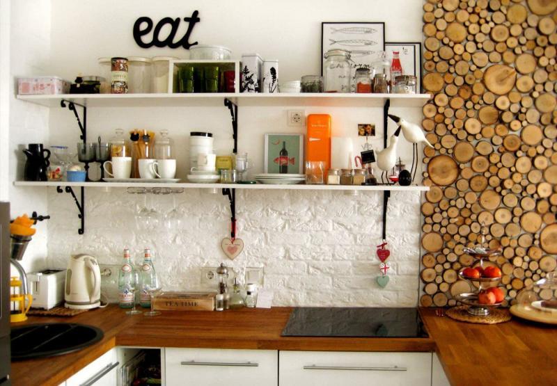 Декоративные панели в интерьере кухни 4