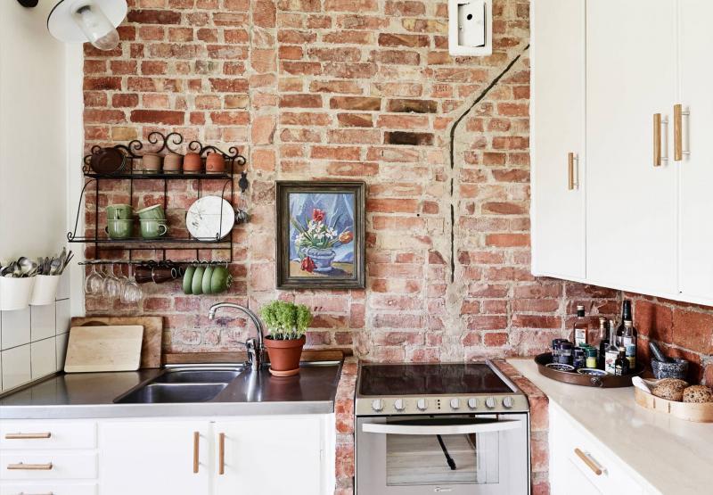 Декоративные панели в интерьере кухни 5