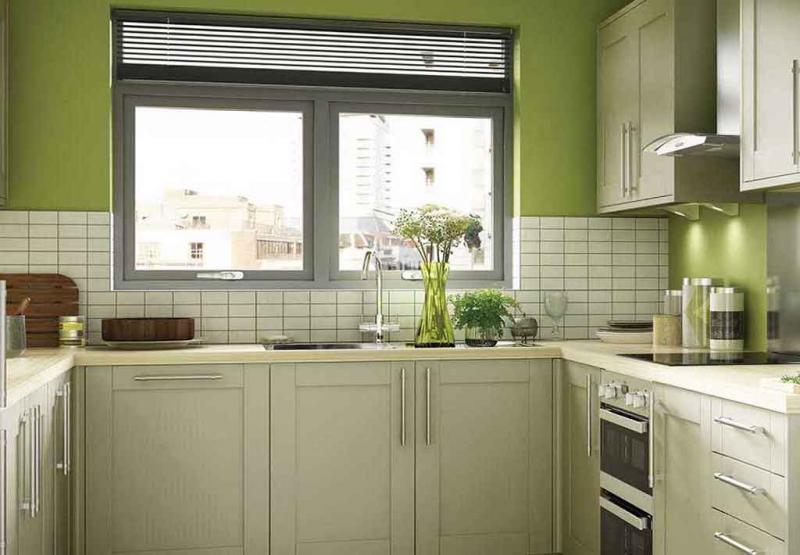 Фото кухни в цвете greenery 1