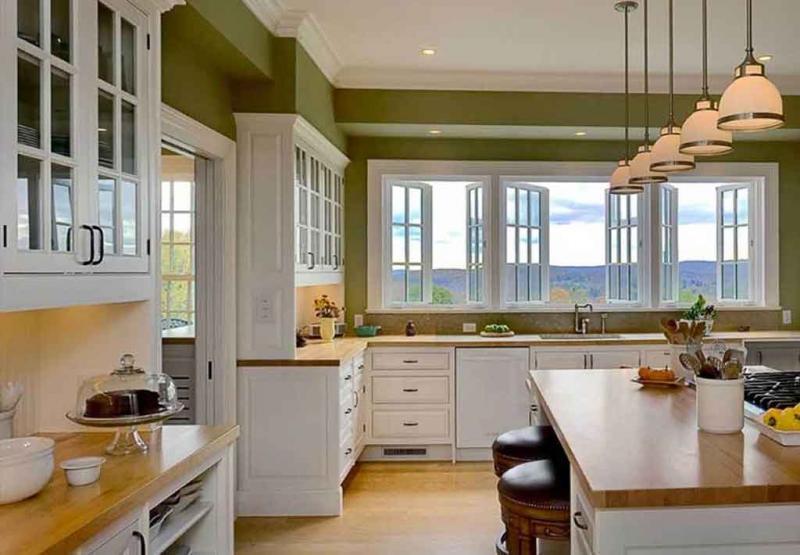 Фото кухни в цвете greenery 4