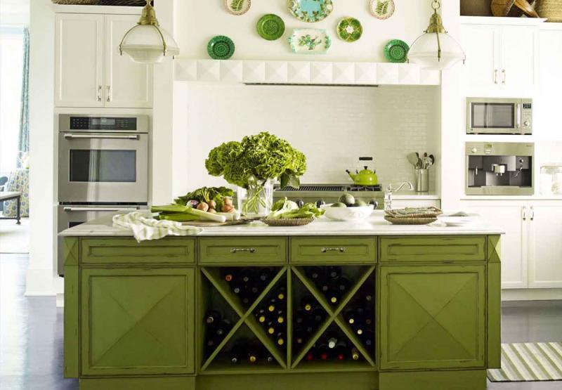 Фото кухни в цвете greenery 5