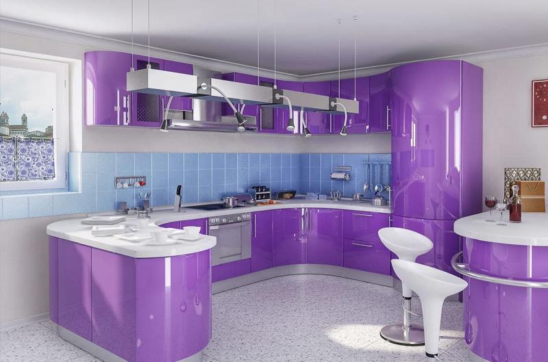 Кухня в стиле хай-тек 5