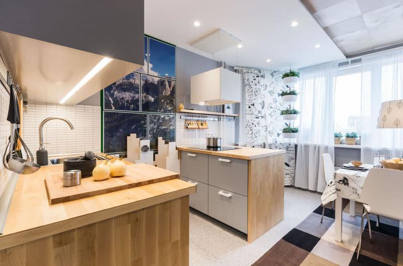 Обустройство кухни 12-14 кв.м 1