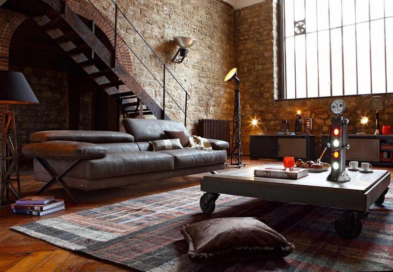 Дизайн спальни в стиле лофт - фото 4