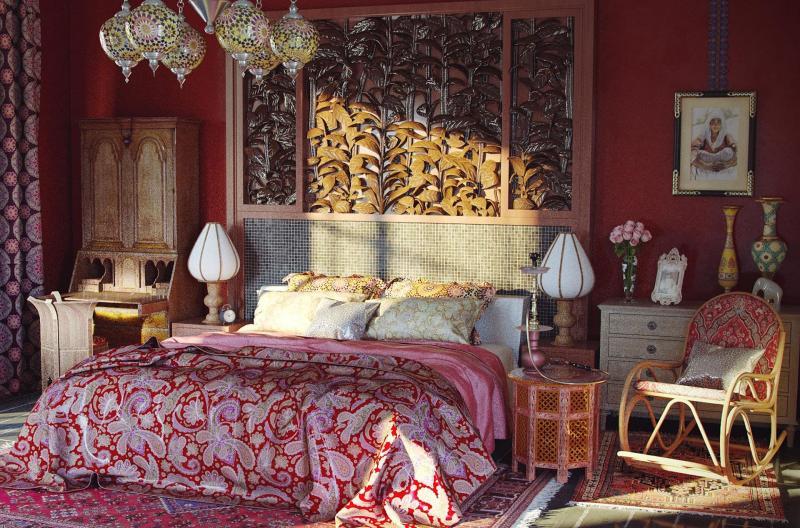 Дизайн спальни в восточном стиле - фото 1