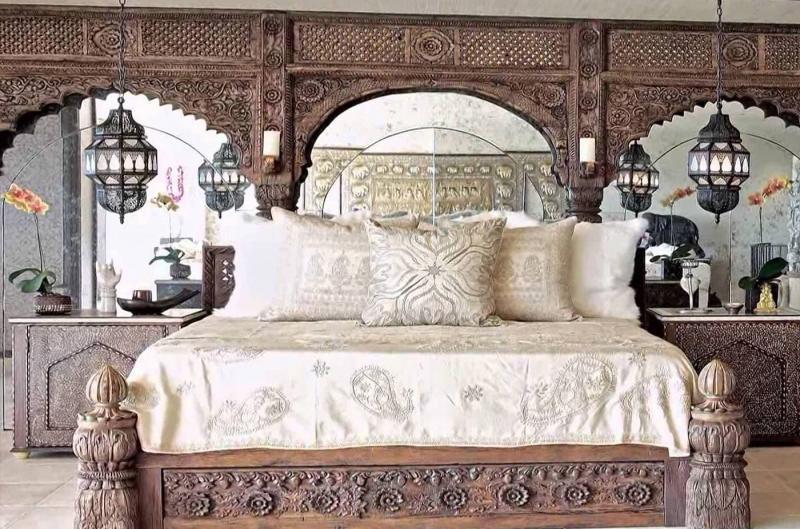Дизайн спальни в восточном стиле - фото 3