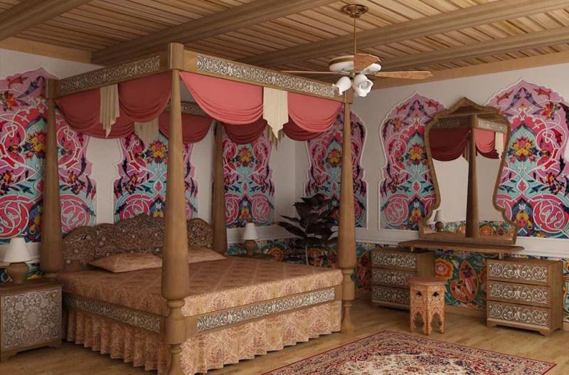 Дизайн спальни в восточном стиле - фото 7
