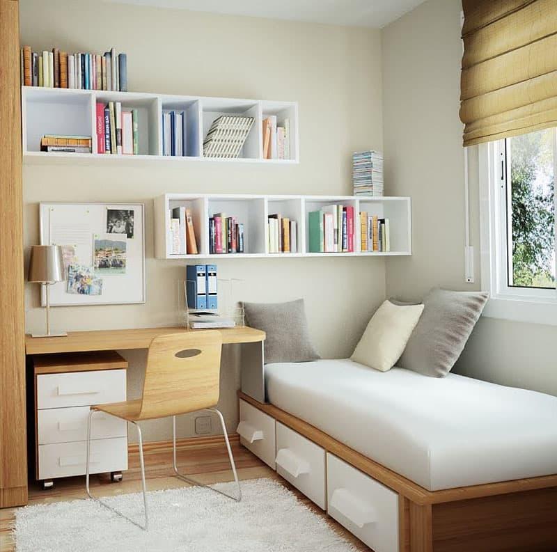 Интерьер маленькой спальни - фото 4