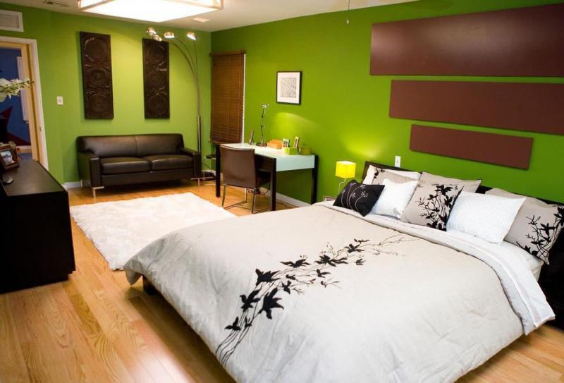 Интерьер просторной спальни 3