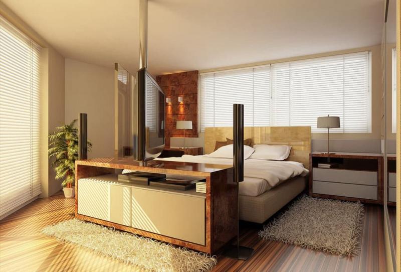 Интерьер просторной спальни 6