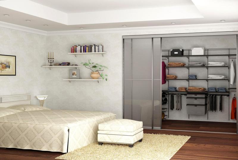 Интерьер спальни-гардеробной 1