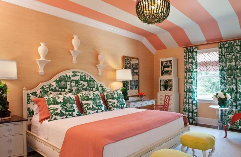 Комбинирование цвета в интерьере спальни 1