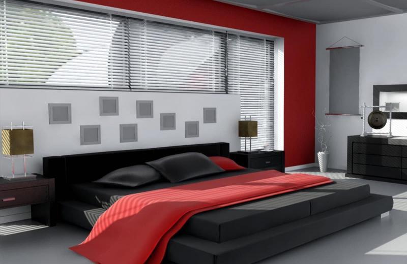 Комбинирование цвета в интерьере спальни 4