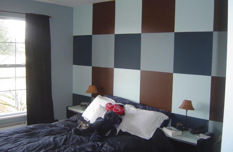 Комбинирование цвета в интерьере спальни 5
