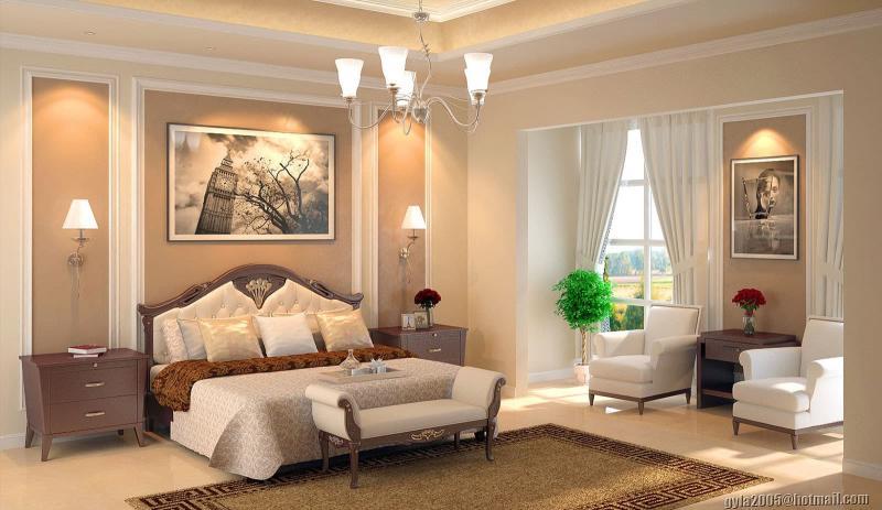 Кресла и кушетка в интерьере спальни