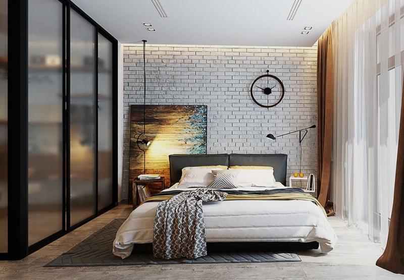 Оформление стен в спальне 4