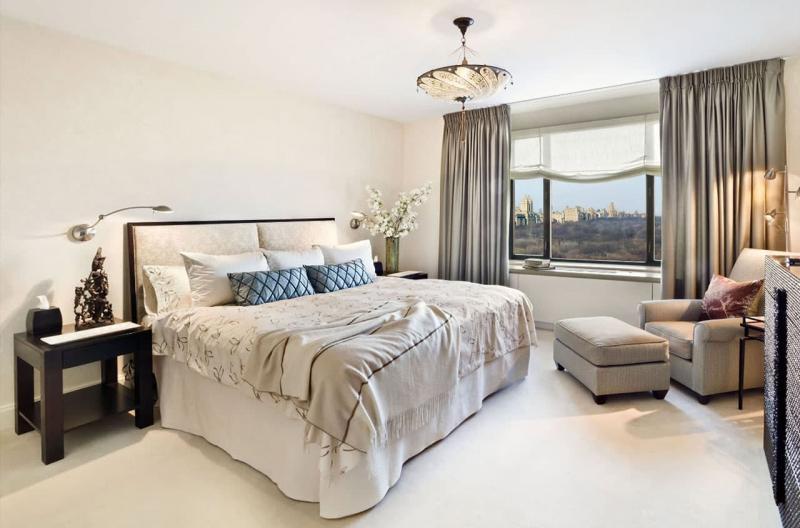 Освещение в интерьере спальни 1