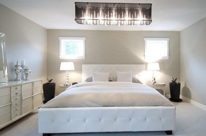 Освещение в интерьере спальни 2