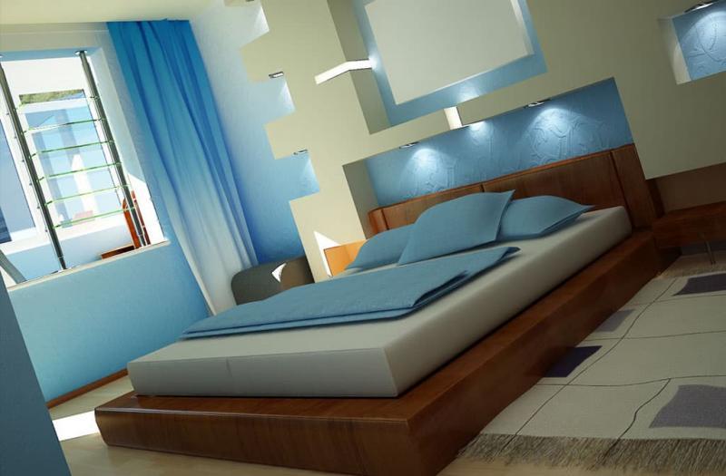 Спальня в стиле хай-тек 2