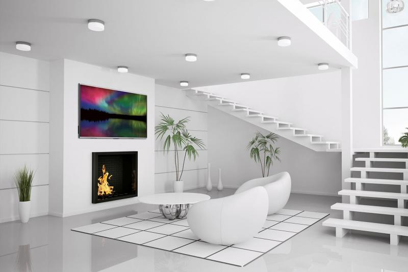 Белый цвет в дизайне гостиной - фото 4